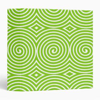 Spirals (1.5in) - Martian Green on White Binder