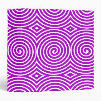 Spirals (1.5in) - Purple on White 3 Ring Binder
