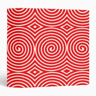 Spirals (1.5in) - Red on White Binder