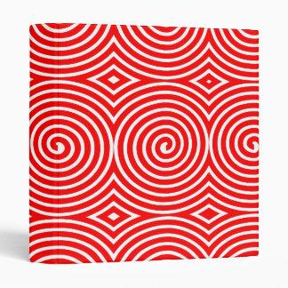 Spirals (1in) - Red on White Binder