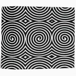 Spirals (2in) - Black on White 3 Ring Binder