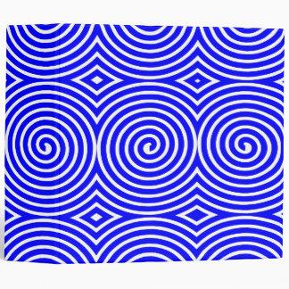 Spirals (2in) - Blue on White Binder