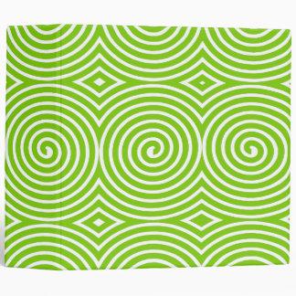 Spirals (2in) - Martian Green on White 3 Ring Binder