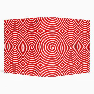 Spirals (2in) - Red on White Binder