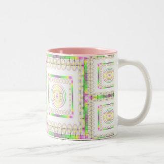Spirals Abound Two-Tone Coffee Mug