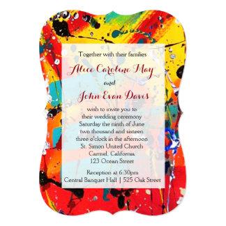 Spirals Abstract Art Wedding Invitation