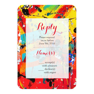 Spirals Abstract Art Wedding Reply Cards