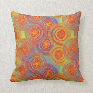 Spirals and Sunsets Pillow