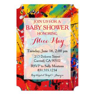 Spirals Baby Shower Invitation