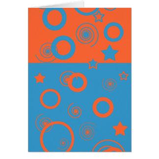 Spirals Circles & Stars Card