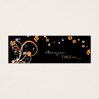 Spirals & Flowers Table Place Card
