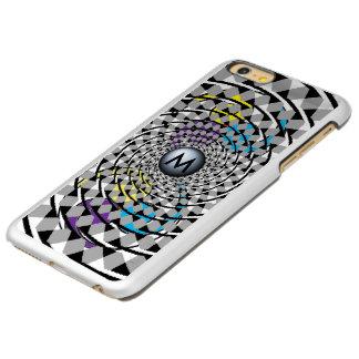 Spirals gray and white incipio feather shine iPhone 6 plus case