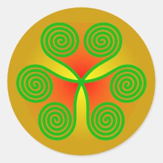 Spirals heart clover sheet spirals hearts shame sk classic round sticker