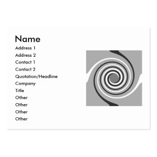 Spirals in Gray and White. Stylish swirls. Business Card