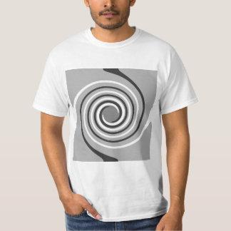 Spirals in Gray and White. Stylish swirls. T-Shirt