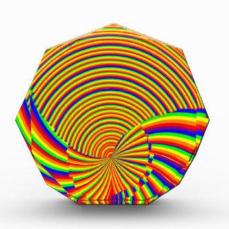Spirals n Rainbow Spectrum Elegant Decorations Award
