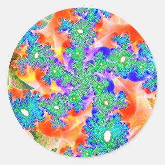 Spirals of Spirals of Variation 3 Stickers (Round)