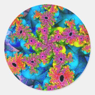 Spirals of Spirals of Variation 4 Stickers (Round)
