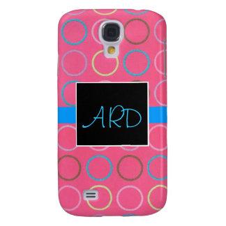 Spirals on Pink Monogram 3G Phone Case