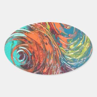 Spirals Oval Sticker