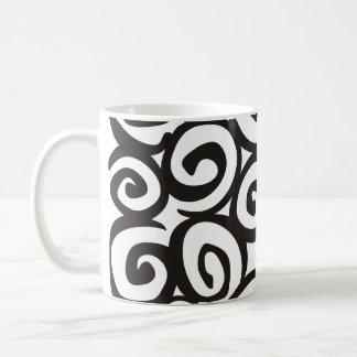 Spirals Pattern Black & White + your ideas Coffee Mug