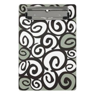 Spirals Pattern Black & White + your ideas Mini Clipboard