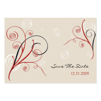 Spirals Save The Date MiniCard Large Business Card