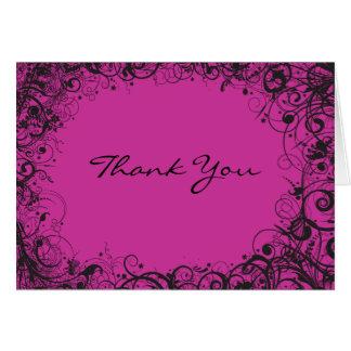 SPIRALS & STARS Folded Thank You Card