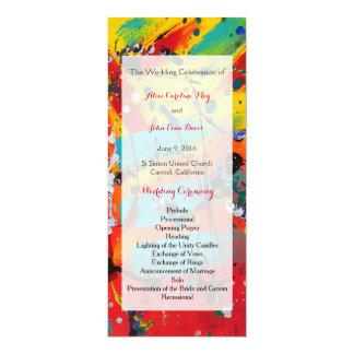 Spirals Wedding Ceremony Program