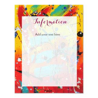 Spirals Wedding Information Card