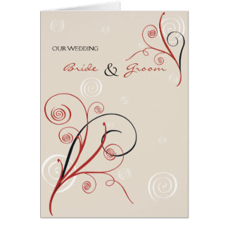 Spirals Wedding Invitation Announcement Card