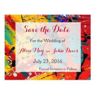 Spirals Wedding Save the Date PostCard