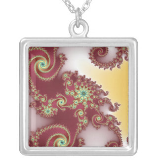 Spiraly Goodnes Square Pendant Necklace