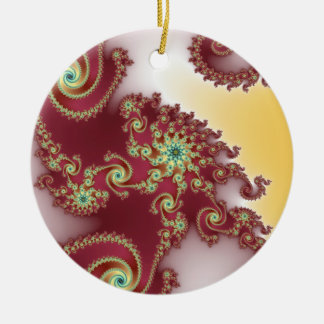 Spiraly Goodnes Double-Sided Ceramic Round Christmas Ornament