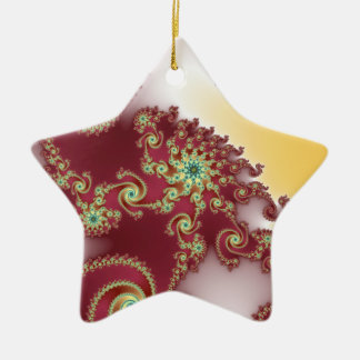 Spiraly Goodnes Double-Sided Star Ceramic Christmas Ornament