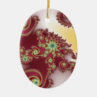 Spiraly Goodnes Double-Sided Oval Ceramic Christmas Ornament