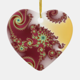 Spiraly Goodnes Double-Sided Heart Ceramic Christmas Ornament
