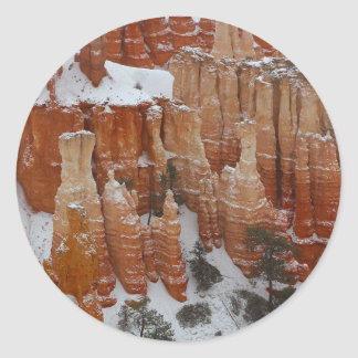 Spire In Bryce Canyon Classic Round Sticker