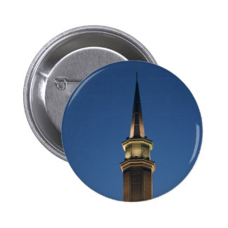 Spire of a building against dark blue twighlight pin