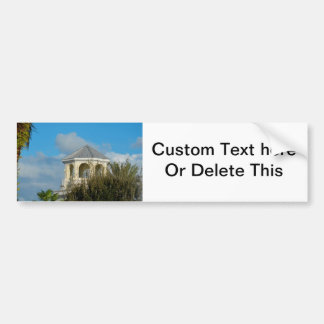 spire roof against blue sky and trees florida bumper sticker