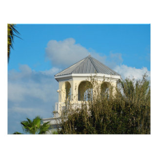 spire roof against blue sky and trees florida custom flyer