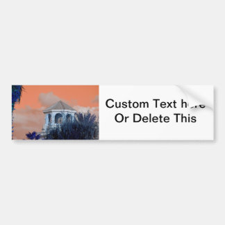 spire roof against orange sky and trees florida bumper sticker