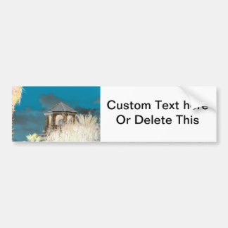 spire roof inverted gazebo sky and trees florida bumper sticker