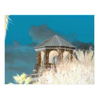 spire roof inverted gazebo sky and trees florida personalized flyer