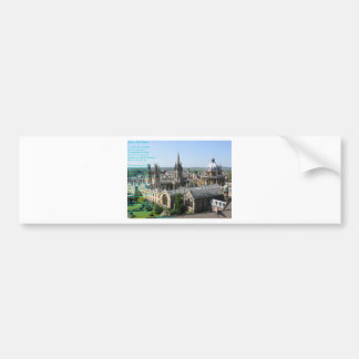 Spires of Oxford poem by: Winifried Mabel Letts Bumper Sticker