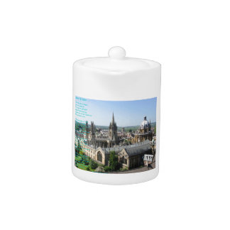 Spires of Oxford poem by: Winifried Mabel Letts Teapot