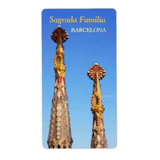 Spires of Sagrada Familia Label