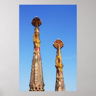 Spires of Sagrada Familia Poster