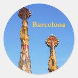 Spires of Sagrada Familia Round Stickers