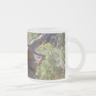 Spires of Wood and Stone Frosted Glass Coffee Mug